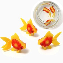 Brio Novelty 3 pcs/lot Swimming Gold Fish Toy NEVER DAMAGE for Tank Aquarium Ornament Home Decor Best Gift Children Kid Favorite