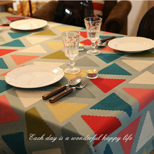 free shipping Color Wallpapers cotton cloth laminated corrugated American country Tablecloths