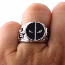 HSIC Brand New DEADPOOL Logo Zinc Alloy Metal Rings For Women Men Size 9 Xmas Gifts HC11672(China)