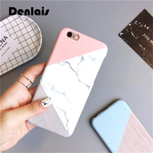 Fashion Granite Marble Stone Geometric Splice Slim Hard Phone Case For Samsung Galaxy S6 S6Edge  S7 S7 Edge S8 S8Plus Cover Capa