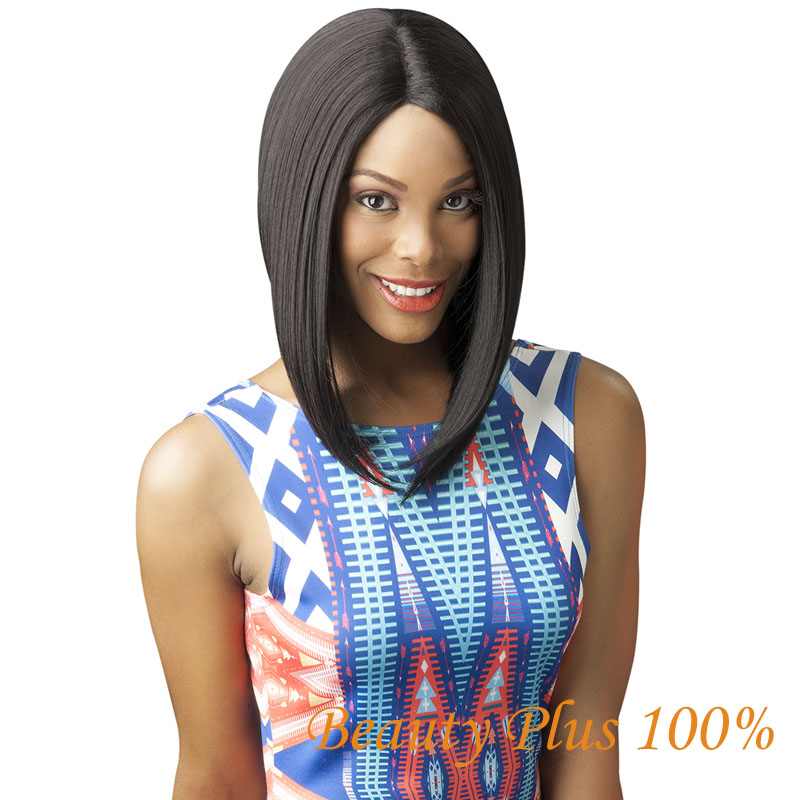 Free Shipping Cheap Synthetic Short Bob Black Wigs Middle Part for Black Women bob wig<br><br>Aliexpress