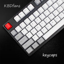 mechanical keyboard thick pbt keycaps cherry mx OEM profile top printed gh60 poker  87 104keycaps 108keys