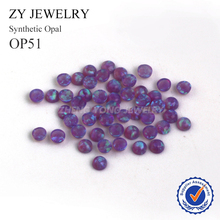 Free Shipping 2.0mm~10mm Synthetic Opal Stones OP51 Purple Round Cabochon Fire Opal Beads For Jewelry Making