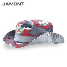 [JAMONT] 2017 Summer Hats for Baby Kids Pure Cotton Bucket Hat Breathable Wide Brim Sun Caps Z-5216()