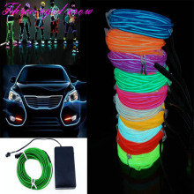 10 Colors 10M EL Wire Tube Rope 4AAA Battery Powered Flexible LED Strip LED Lamp Neon Cold Light Car Party Wedding Decor(China)