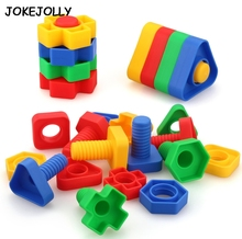 5 sets Screw building blocks plastic insert blocks nut shape toys for children Educational Toys scale models GYH