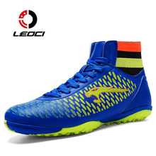 LEOCI Adult High Ankle Soccer Shoes Fly Men Football Shoes New Superfly Soccer Cleats Boots Football Trainers bota de futebol