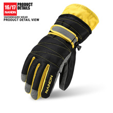 Nandn New 2017 Wholesale Price Bike Riding Hiking Climbing Windproof Waterproof Warm Ski Glove Candy Color Men Women Boy Girl(China)