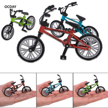 OCDAY Simulation Alloy Finger bmx Bike Children finger board bicycle Toys With Brake Rope Kids Novelty Bicyclist Christmas Gift(China)
