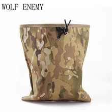 Tactical Large Capacity Military Airsoft Paintball Hunting Folding Mag Recovery Dump Pouch Molle Belt Loop Stuff Sacks(China)