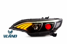 Free shipping for Vland Car light for Honda JAZZ LED Headlight 2014 2015 FIT Head lamp with Daytime Running Light Bi-Xenon(China)