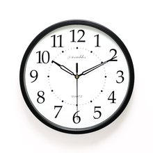 Newest 12 Inches 0366 Modern Simple Design Fashion High quality Metal Frame Round Big Decorative silent Wall Clock(China)