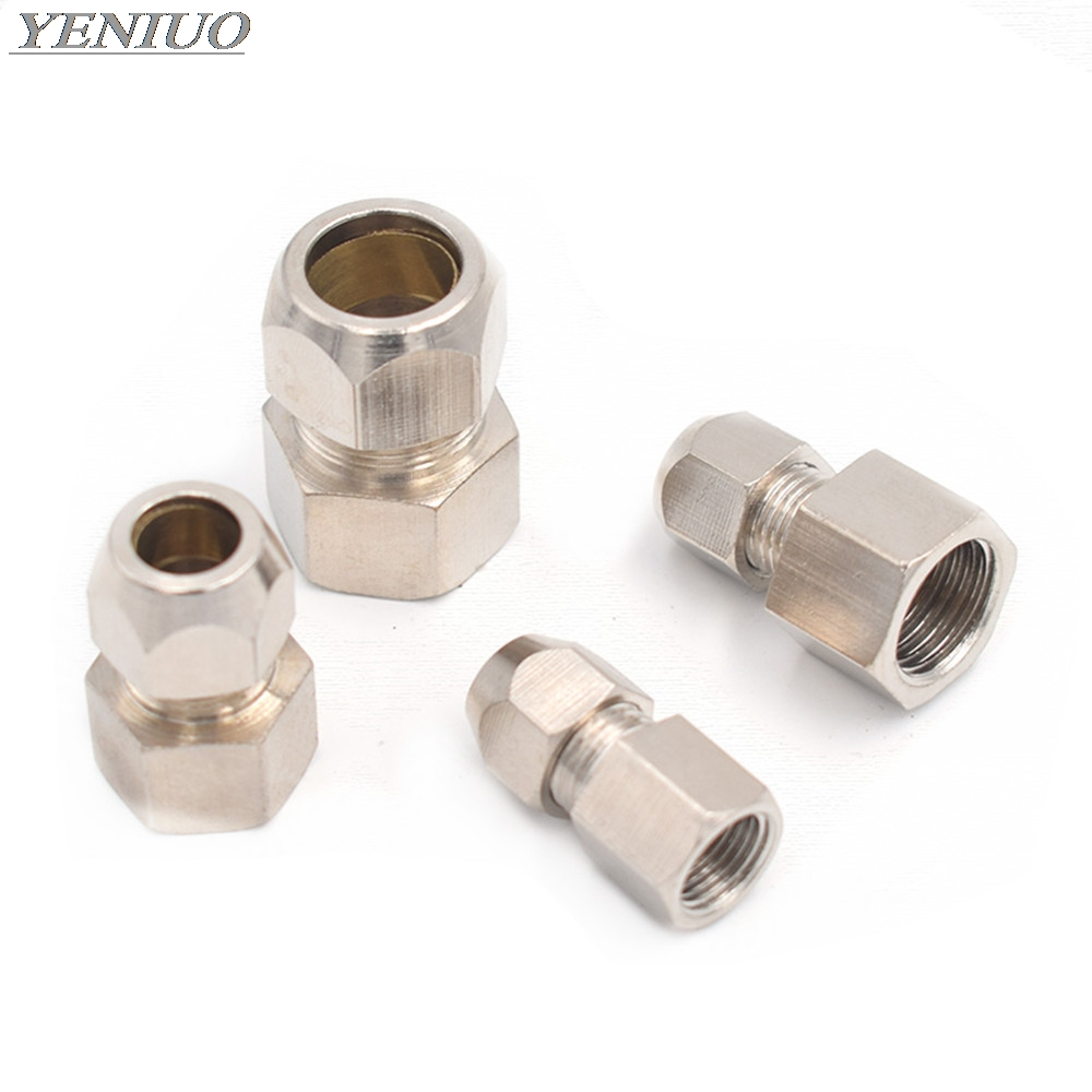 """Ring Lock oil Tube Compression Ferrule Tube Compression Fitting Connector tube 4-12mm Female Thread 1/8"""" 1/4"""" 3/8"""" 1/2"""" BSP"""