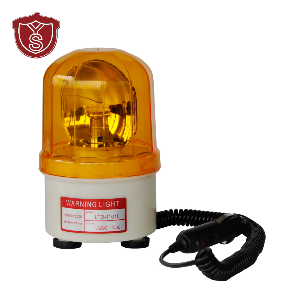 LTD-1101L DC12V LED Rotary Warning Lamp Alarm Police Fireman Car Emergency Strobe Light Vehicle Beacon Tower Signal with CE/ROHS<br>