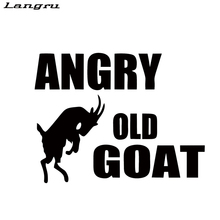 Langru New Style Car Stying Angry Old Goat Car Sticker Vinyl Graphics Decals Car Accessories Decorative JDM(China)