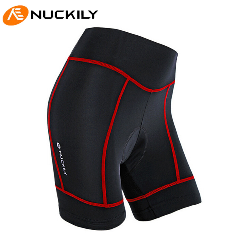 NUCKILY 3D Gel Padded Summer Breathable MTB Bike Bicycle Profession Training Team Sport Roupa Feminina Women Cycling Shorts<br>