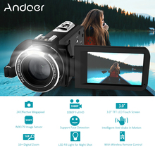 "Andoer HDV-Z20 Portable 1080P Full HD Digital Video Camera Max 24 Mega Pixels 16x Digital Zoom Camcorder 3.0"" LCD Touchscreen(China)"