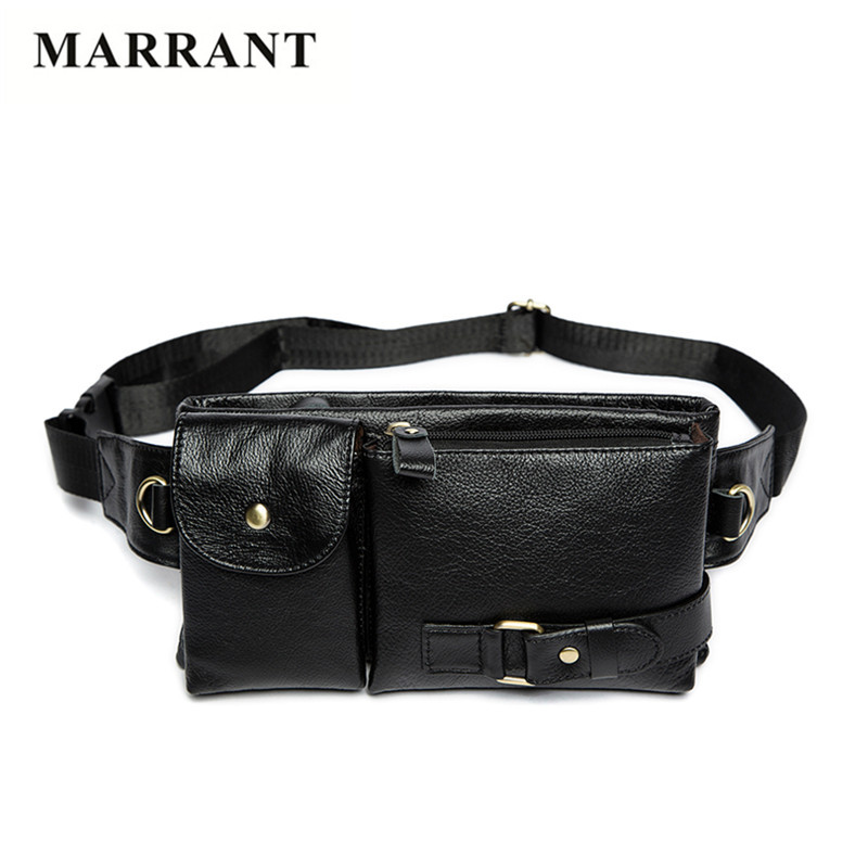 MARRANT 100% Genuine Leather Waist Bag High Quality Cowhide Leather Small Bag Male Fashion Men Phone Pocket Casual Crossbody Bag<br><br>Aliexpress