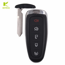 KEYECU 5 Button Replacement Smart Prox Key Remote Case Shell for Ford Edge Explorer Taurus ,Lincoln MKX MKS MKT(China)