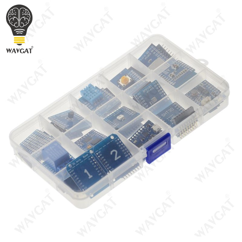 15PCS WAVGAT D1 mini Pro WiFi development board KIT NodeMcu Lua, based on ESP8266 D1 mini Pro V1.1.0 for Arduino