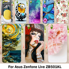 Moblie Phone Cases For Asus Zenfone Live ZB501KL Cover Zenfone 3 Go 5.0 inch Cases DIY Hard Plastic Soft TPU Shell Skin Bags