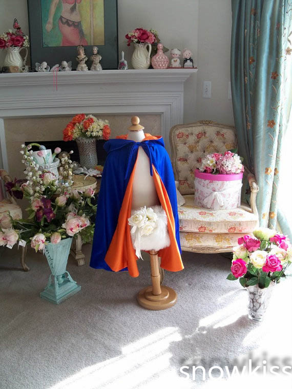 Cheap orange royal blue tea length haloween flower girl cape for evening party little kid cloaks jacket toddler outerwear<br><br>Aliexpress
