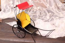 2017 New Creative Gifts Retro Model Shanghai Classic Old Rickshaw Vintage Home Decor Crafts 1pcs