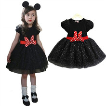 Fancy Baby Girl Minnie Costume For Gil Kids ClothesTutu Dress For Little Girl Dinner Wear Summer Children Clothing For 2-6 Years