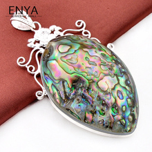 Top-Sales High Quality Jewelry Natural Abalone Shell Pendants For Women 100% hand Made P0254 Free Shipping