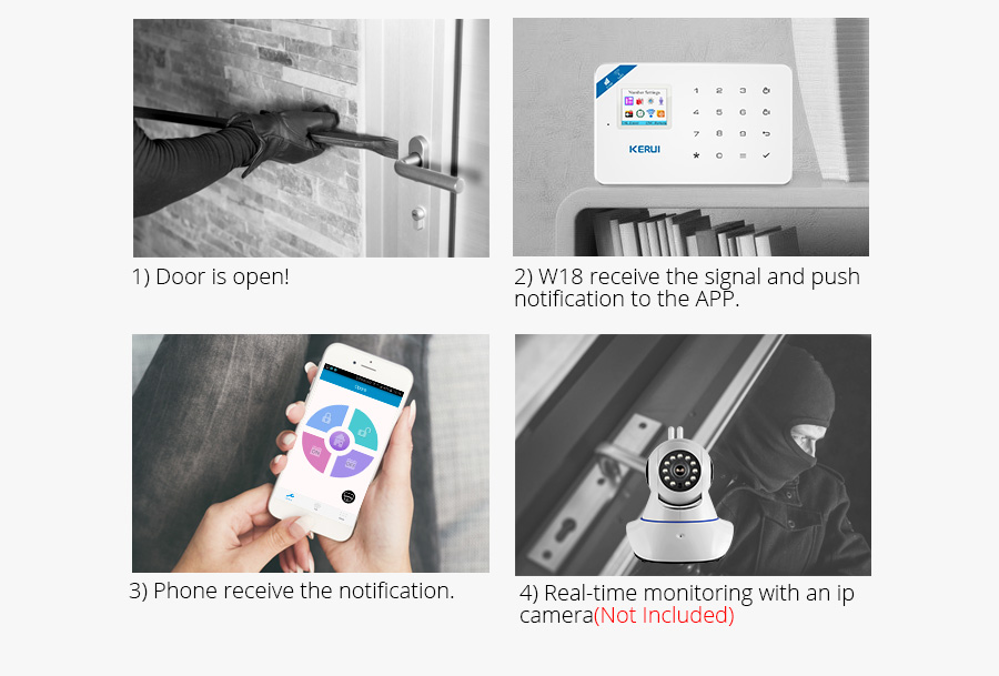 Wireless WiFi GSM Alarm System Android iPhone APP Control home Security Alarm System compatable with Anti pet PIR motion sensor_wifi__02