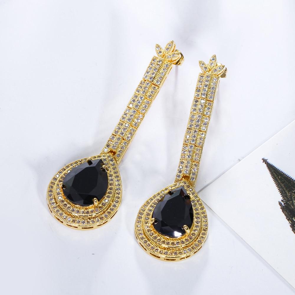 big water drop stone earrings (7)