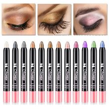 New 12 Colors Shimmer Waterproof Eyeshadow Pencil 1 PC Naked Smoky  Eye Makeup Eye Shadow Pencil Bronzer Sombra