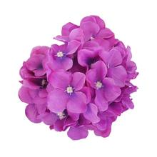 Mother's Day 20pcs Silk Hydrangea Flowers Artificial Flower Head For Wedding Decoration DIY Wreath Gift Scrapbooking Fake Flower