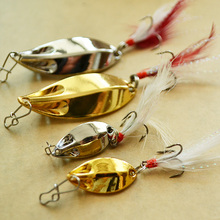 2pcs/lot Free shipping cheap spoon fishing lures metal lures Gold/Silver 5g/15g fishing lure spoon fishing tackle Hard Bait