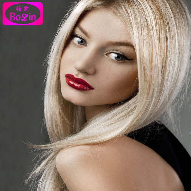 7A Grade Blonde Human Hair Wigs 100% Unprocessed European Straight Hair full Lace wigs For Black Woman With Baby Hair in Stock<br><br>Aliexpress
