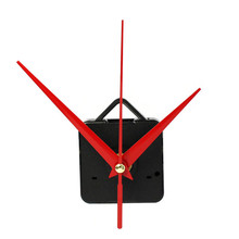 Lovely pet High Quality Red Quartz Clock Movement Mechanism with Hook DIY Repair Parts + Hands drop shipping 0616(China)