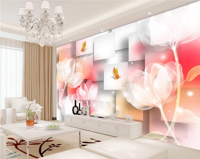Custom wallpaper murals flowers,Fantasy Flowers,3D stereoscopic wallpaper for the living room sofa bedroom Vinyl wallpaper<br><br>Aliexpress
