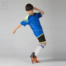 Boys soccer sets Thai quality football uniforms kits for children customized Soccer jerseys 2016 2017 kids short sleeves new