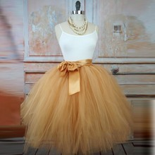 Real Picture Skirt Tutu With Sash Custom Made Skirts A Line Cheap Fairy Style Puffy Girl Skirt Counrty Style(China)