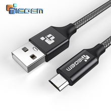 Tiegem 4.0mm Nylon Micro USB Cable for Samsung HTC Huawei Android 3m 2m Fast Charge wire Microusb Mini USB Mobile Phone Cables(China)