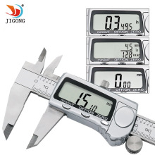 Electronic Digital Caliper Inch Metric Fractions Conversion 0-6 Inch 150 mm Stainless Steel Body Extra Large LCD Screen(China)