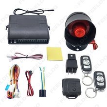 Car Alarm Security System Manual Reset Button Function Burglar Alarm Protection with 2 Remote Control #FD-2224(China)