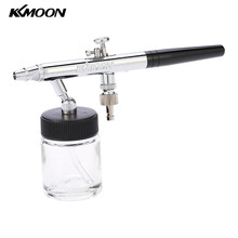 0.35mm Dual Action Spray Gun Airbrush Kit Siphon Feed Air Brush for Temporary Tattoo Manicure Makeup Cake Art Painting