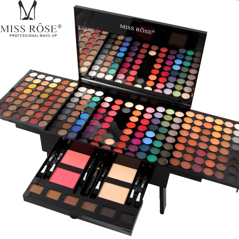 Miss Rose 180 Color Matte &amp; Shimmer Eyeshadow Palette Professional Eye Makeup Full Color Eye Shadow Make Up Kit Piano Shape A29 <br>