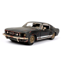 collections 1:24 Scale old version 1967 Mustang GT black Diecast Model Car Toys 1/24 car models children's gift(China)
