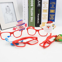 Cute Christmas Decorations Santa Claus Spectacles Frame Without Glasses Gifts Kids Toys Party Prop Child Adults Ornaments Favor
