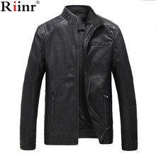Riinr Brand Motorcycle Leather Jackets Men Autumn and Winter Leather Clothing Men Leather Jackets Male Business Casual Coats