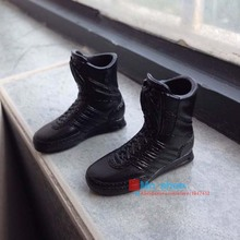 "Hot Figures Accessory Black Hawk SWAT Combat Boots GSG9(Includes Foot) For 12"" Action Figure Model Toys Gift Collection P20(China)"