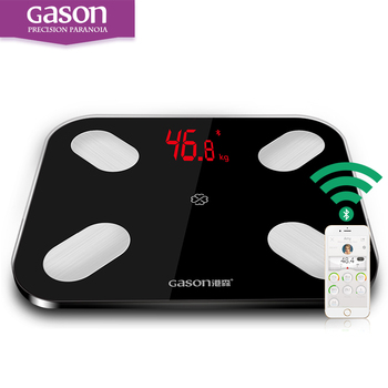 GASON S4 LED Bathroom Digital Body Fat floor Scale Fat Scalesmart weighing support Android4.3 IOS7.0 Bluetooth 4.0 Losing Weight