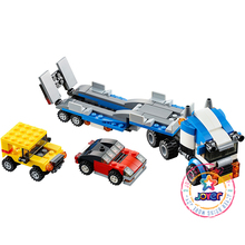 Decool 3114 Vehicle Transport DIY Race Truck building bricks block 3 In 1 Toy Boy Game Model Car Gift Lepin 31033(China)